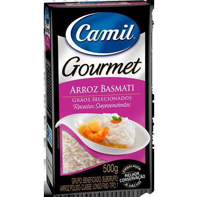 Arroz basmati 500g Camil Gourmet pacote PCT