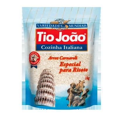 Arroz carnaroli 1kg Tio João pacote PCT