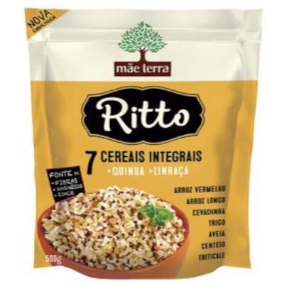 Arroz integral 7 cereais 500g Ritto pacote PCT