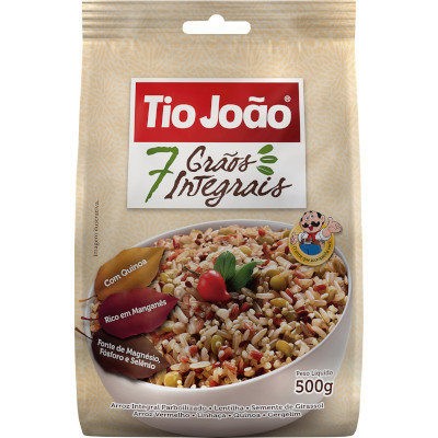 Arroz Integral 7 Grãos com Quinoa 500g Tio João pacote PCT