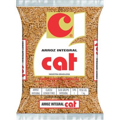 Arroz integral tipo 1 1kg Cat pacote PCT