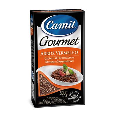 Arroz integral vermelho 500g Camil Gourmet pacote PCT