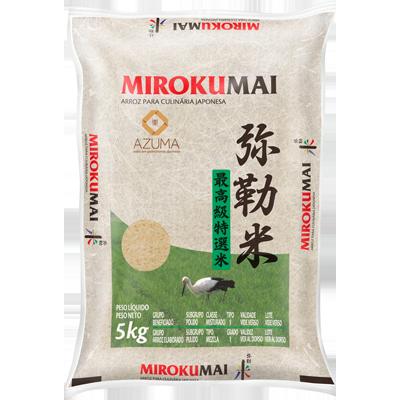 Arroz Japonês grão curto 5kg Mirokumai pacote PCT