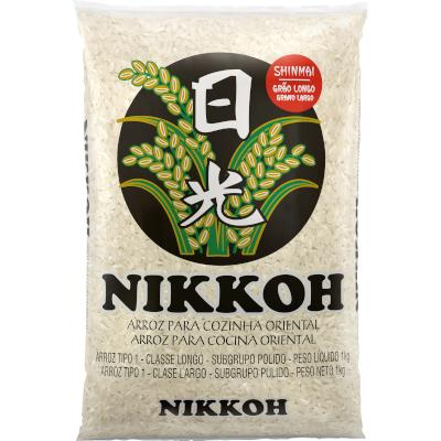 Arroz Japonês Grão Longo 1kg Nikkoh pacote PCT