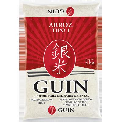 Arroz Japonês grão longo 5kg Guin pacote PCT