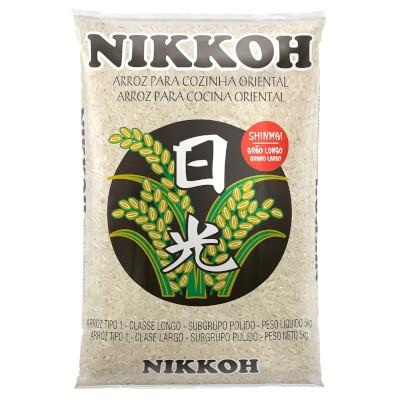 Arroz Japonês grão longo 5kg Nikkoh pacote PCT