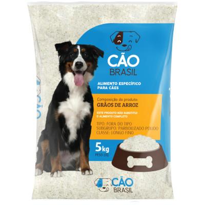 Arroz para cachorro 5kg Cão Brasil pacote PCT