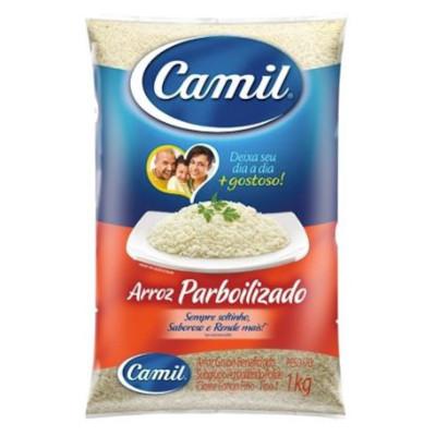 Arroz parboilizado 1kg Camil pacote PCT