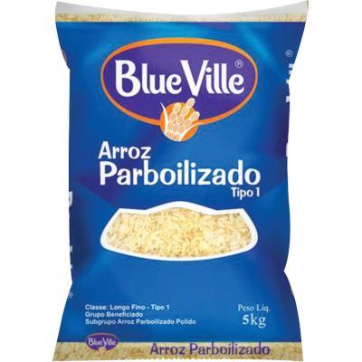 Arroz parboilizado 5kg Blue Ville pacote PCT