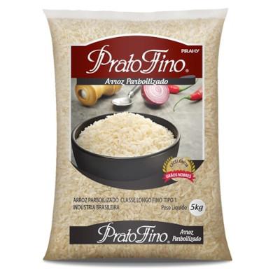 Arroz parboilizado 5kg Prato Fino pacote PCT