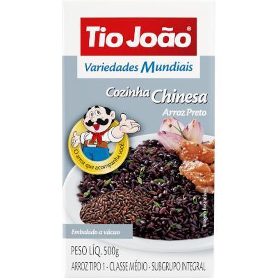 Arroz Preto Cozinha Chinesa 500g Tio João pacote PCT