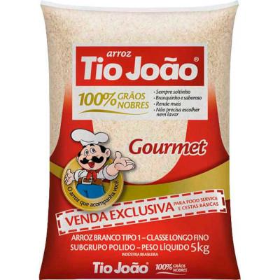Arroz tipo 1 Gourmet 5kg Tio João pacote PCT