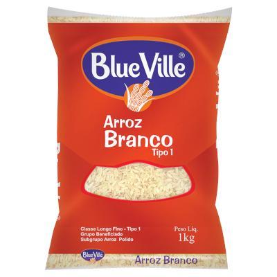 Arroz tipo 1 1kg Blue Ville pacote PCT