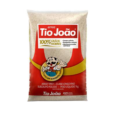 Arroz tipo 1 1kg Tio João pacote PCT
