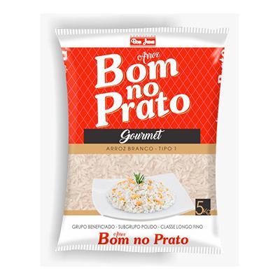 Arroz tipo 1 5kg Bom no Prato pacote PCT