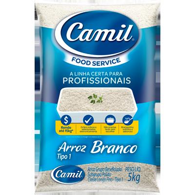 Arroz tipo 1 5kg Camil Food Service pacote PCT