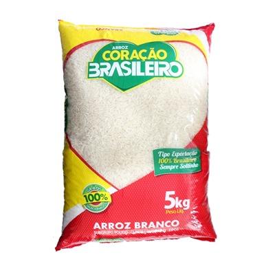 Arroz tipo 1 5kg Coração Brasileiro pacote PCT