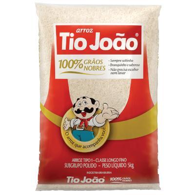 Arroz tipo 1 5kg Tio João pacote PCT