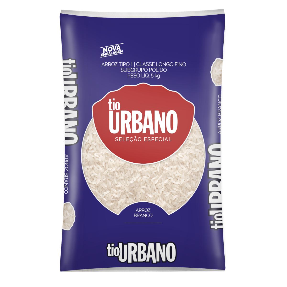 Arroz tipo 1 5kg Tio Urbano pacote PCT