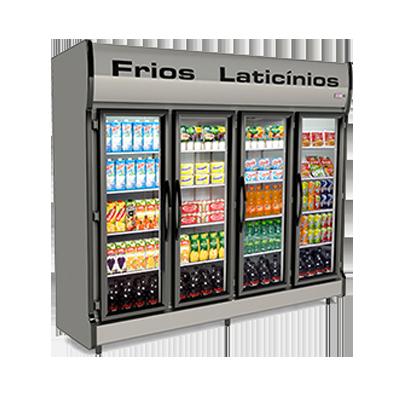 Auto Serviço (geladeira) 4 portas, 2,35M comprimento, 220V unidade Conservex  UN