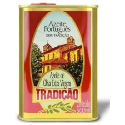 Azeite de Oliva extra virgem 500ml Tradição lata LT
