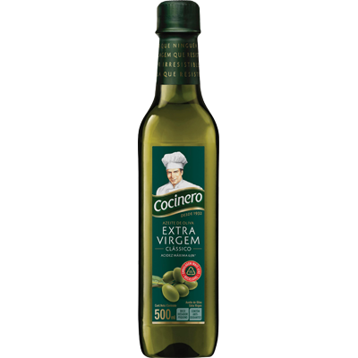 Azeite de Oliva Extra Virgem 500ml Cocinero vidro UN