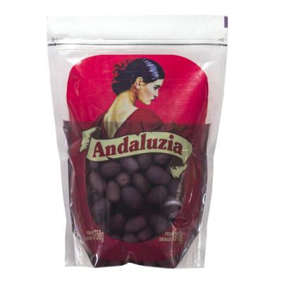 Azeitona Preta Azapa com caroço 16/20 1,01kg Andaluzia sachê UN