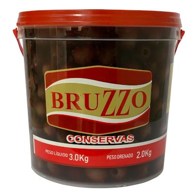 Azeitona Preta sem caroço 1,8 a 2kg Bruzzo balde KG