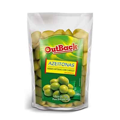 Azeitona Verde com caroço 400g OutBack sachê UN