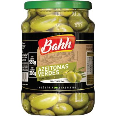 Azeitona Verde com caroço 300g Bahh vidro UN