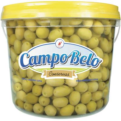 Azeitona Verde média com caroço 1,8 a 2kg Campo Belo balde KG
