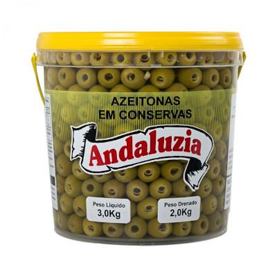 Azeitona Verde sem caroço 16/20 1,8 a 2kg Andaluzia balde KG