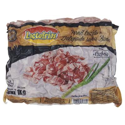 Bacon em cubos 1kg Lactofrios pacote PCT