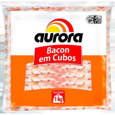 Bacon em cubos 1kg Aurora pacote PCT