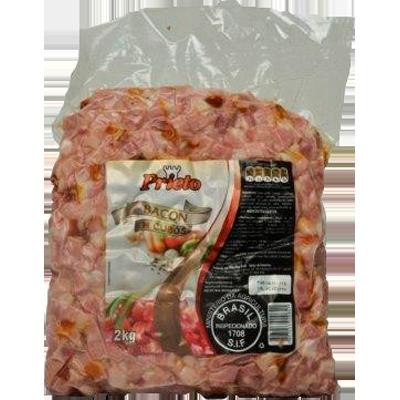 Bacon em cubos por Kg Prieto pacote KG