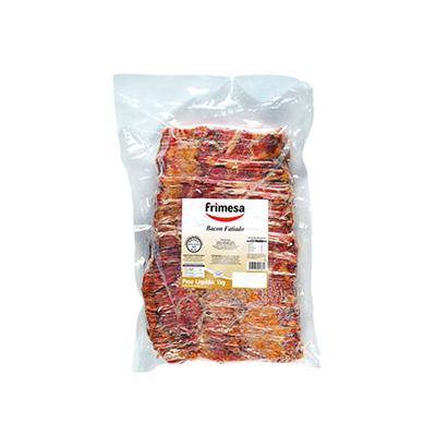 Bacon fatiado 1kg Frimesa pacote PCT