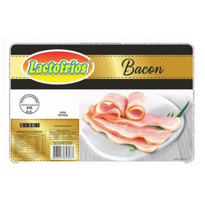 Bacon fatiado por Kg Lactofrios  KG