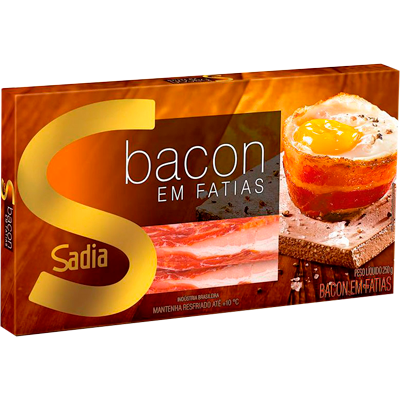 Bacon fatiado por kg Sadia  KG