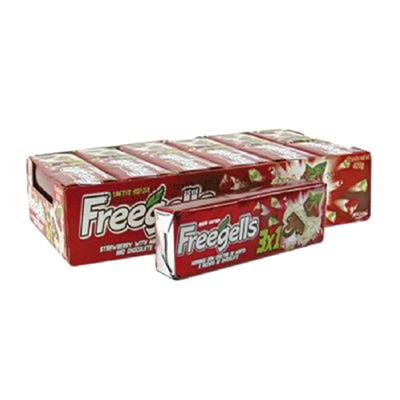 Bala 3x1 12 unidades Freegells caixa CX