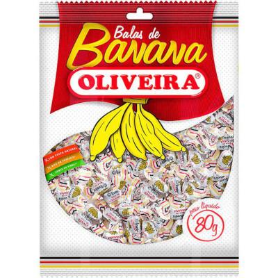 Bala de banana 80g Oliveira  UN