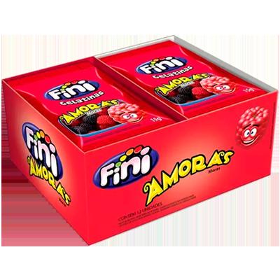Bala de gelatina 12 unidades de 15g Fini/Amoras caixa CX