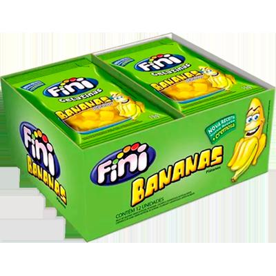 Bala de Gelatina 12 unidades de 15g Fini/Bananas caixa CX