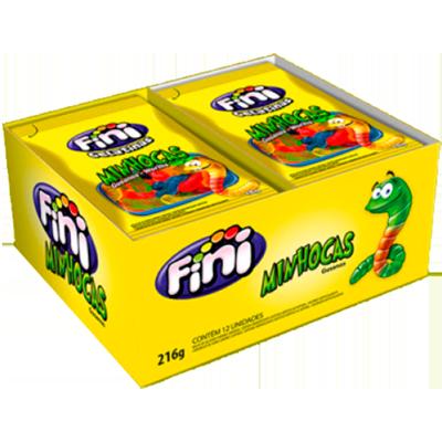 Bala de gelatina 12 unidades de 15g Fini/Minhocas caixa CX