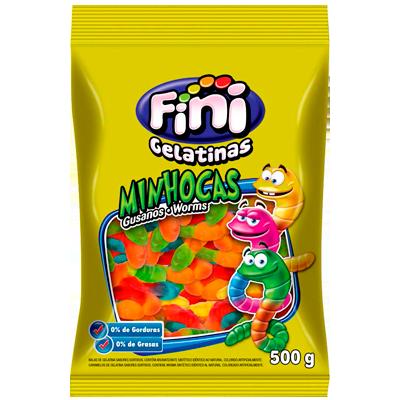 Bala de gelatina 500g Fini/Minhocas pacote PCT