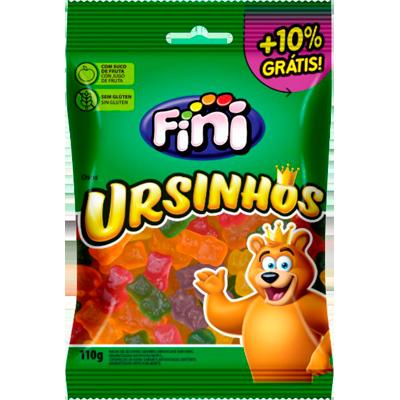 Bala de gelatina sabor sortido 12 unidades de 110g Fini/Ursinhos caixa CX