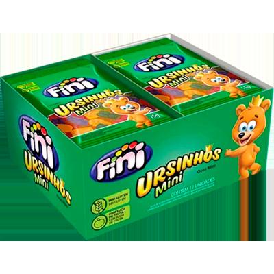 Bala de gelatina sabor sortido 12 unidades de 15g Fini/Ursinhos caixa CX