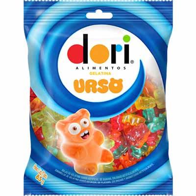 Bala de gelatina urso 85g Dori pacote PCT