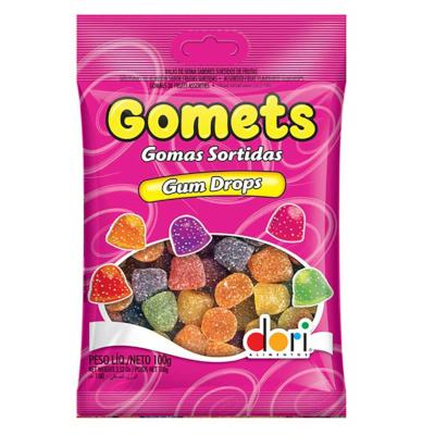 Bala de Goma sabor Sortido 100g Dori/Gomets pacote PCT