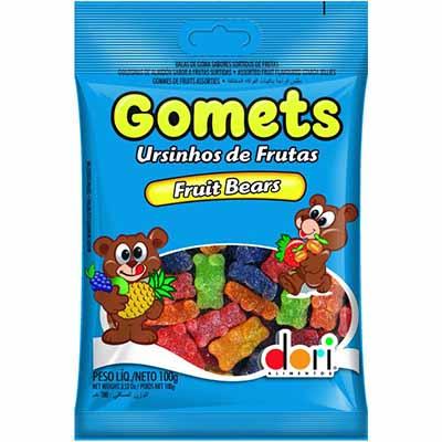 Bala de Goma Ursinhos de Frutas 100g Dori/Gomets pacote PCT