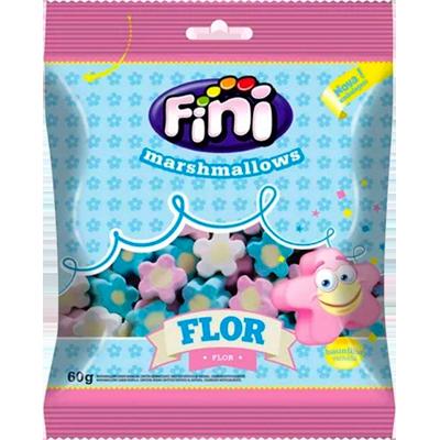 Bala de marshmallow 12 unidades de 60g Fini/Flor caixa CX